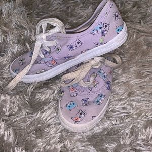 Cute cat Canvas Sneakers little girl size 11